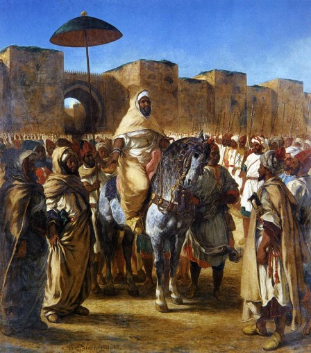 15408 The Sultan of Morocco and his Entourage f 1832 Delacroix