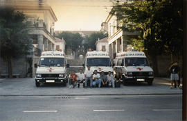 Ambulancias en la plaza