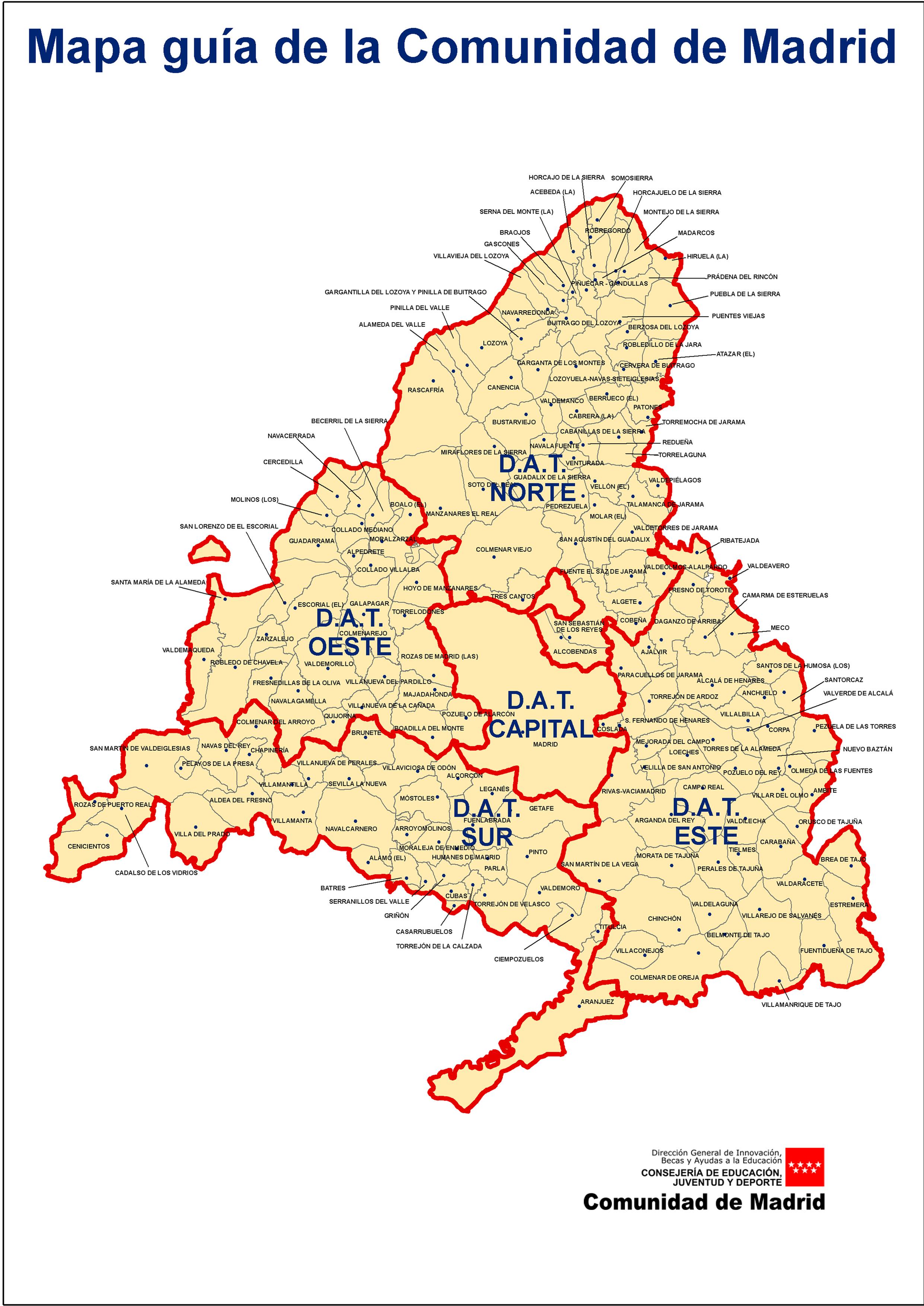 Mapa comunidad madrid for Comunidad de madrid rea