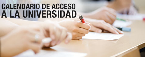 Calendario de acceso a la Universidad