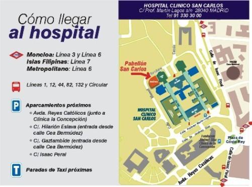 C mo llegar hospitalclinicosancarlos - Hospital de la paz como llegar ...