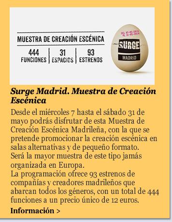 Surge Madrid. Muestra de Creación Escénica