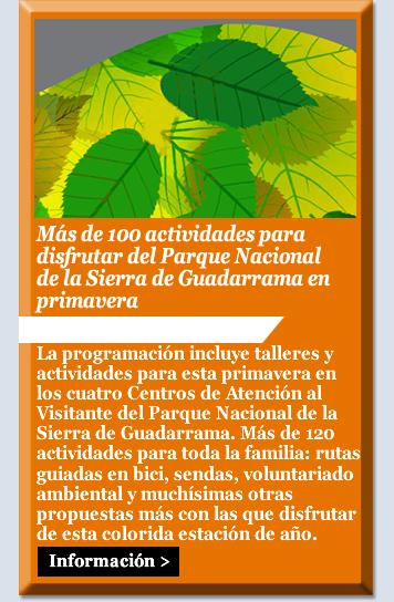 Más de 100 actividades para disfrutar del Parque Nacional de la Sierra de Guadarrama en primavera