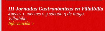 III Jornadas Gastronómicas en Villalbilla