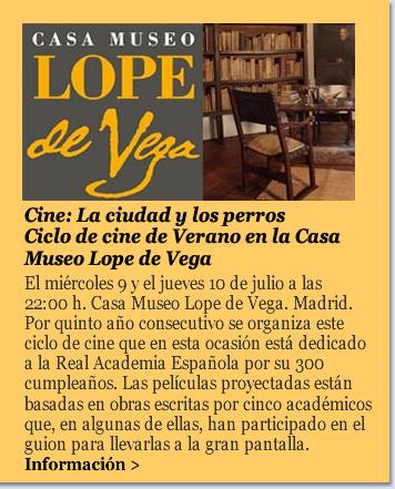 Cine: La ciudad y los perros. Ciclo de cine de Verano en la Casa Museo Lope de Vega