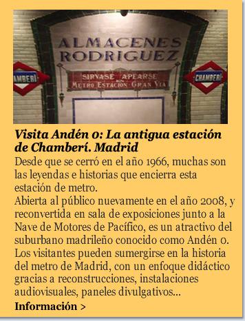 Visita Andén 0: La antigua estación de Chamberí. Madrid