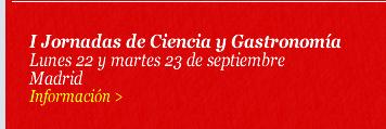 I Jornadas de Ciencia y Gastronomía