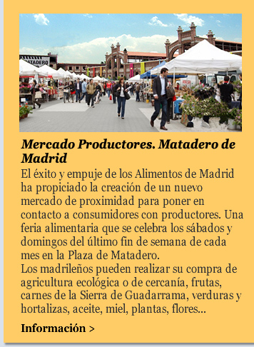 Mercado Productores. Matadero de Madrid