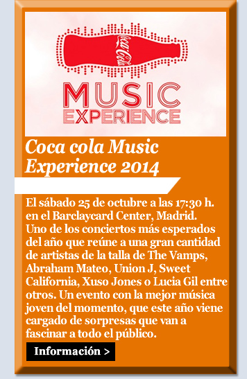 Coca cola Music Experience 2014
