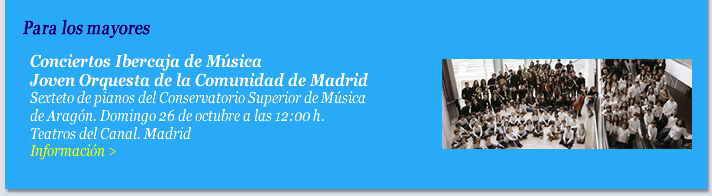Conciertos Ibercaja de Música. Joven Orquesta de la Comunidad de Madrid.